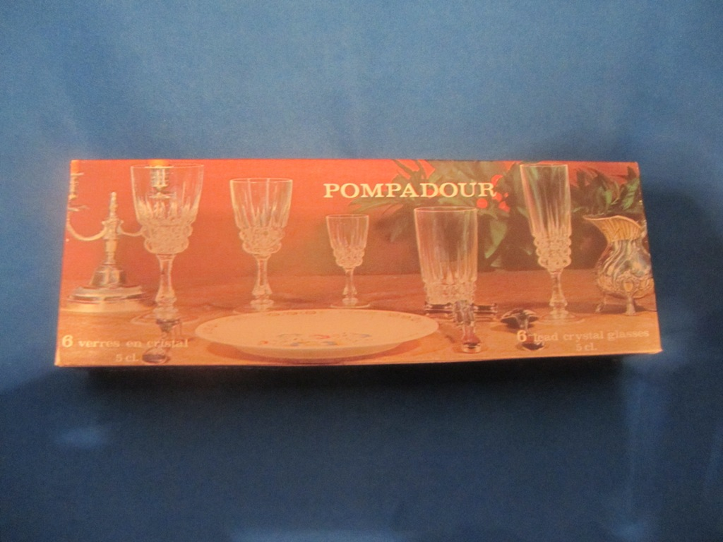 Pompadour Lead Crystal Glasses