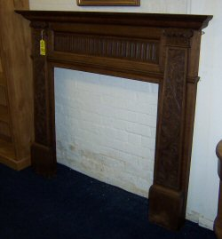 VICTORIAN OAK FIRE SURROUND