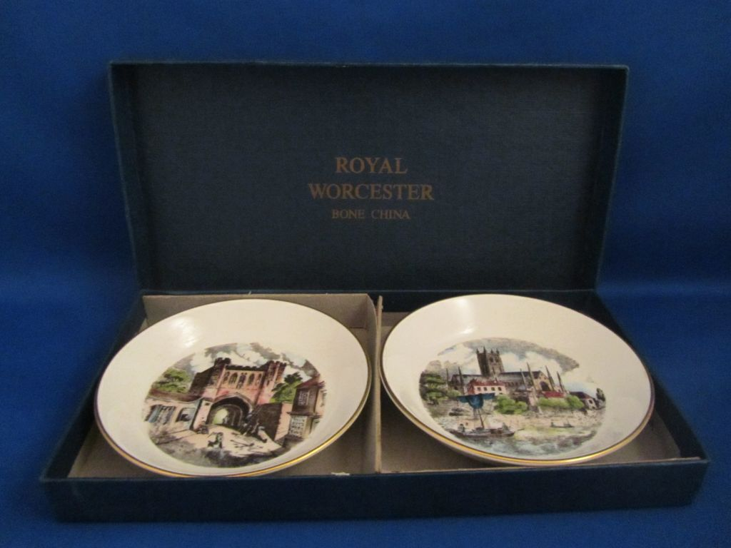 Boxed Royal Worcester Pin Dishes
