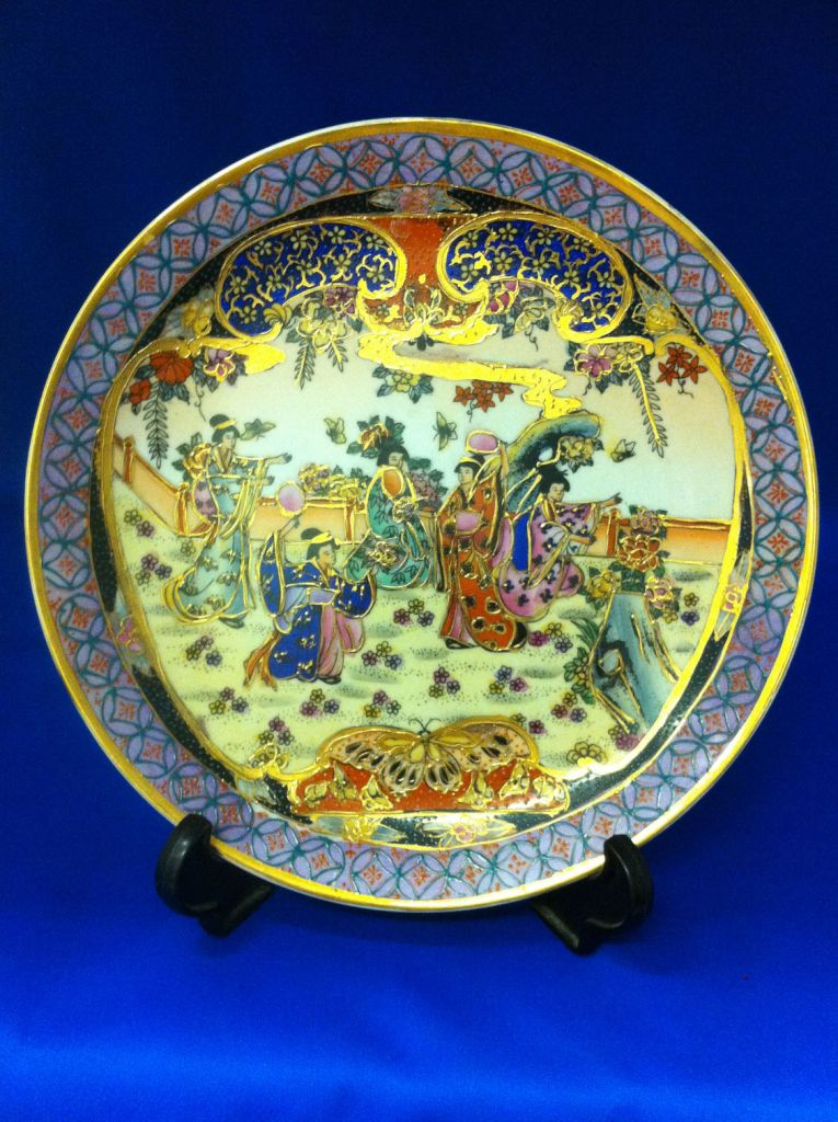 oriental highly collectable hand painted japanese