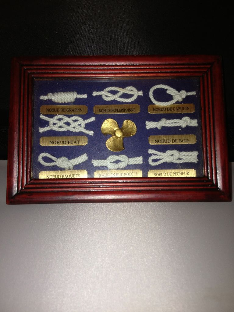 Nautical knots framed display