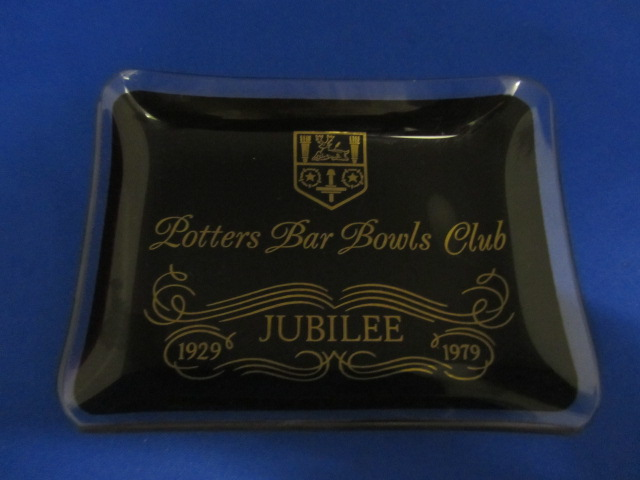 Potters Bar Bowls Club Glass Dish