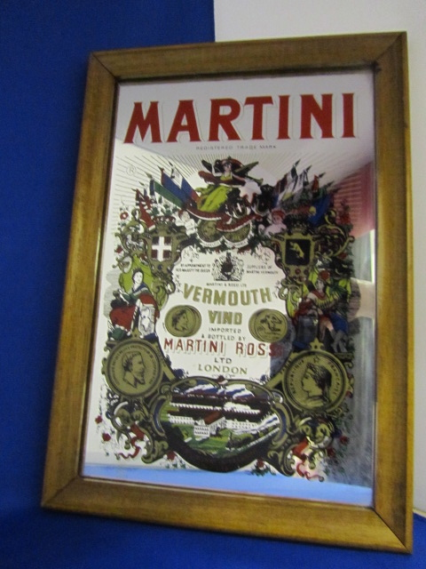 Vintage Martini Bar mirror