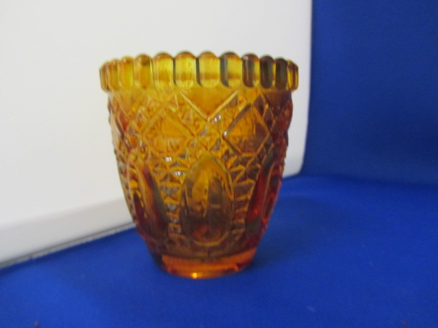 Orange Cut Glass