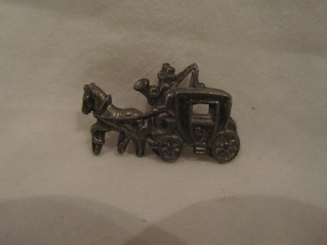 Horse & Carriage  brooch