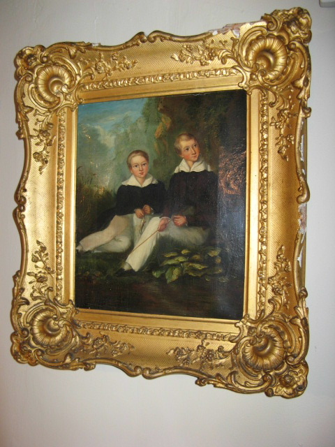 A EARLY 19THC PORTRAIT OF CHARLES AND FREDERIC GREEN.