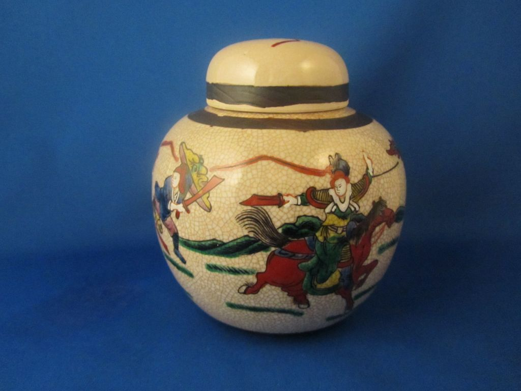 Japanese Warrior Ginger jar