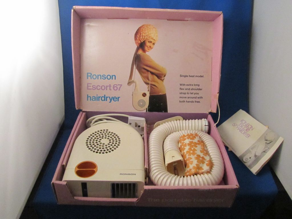 Vintage Ronson Escort 67 Hairdryer Now And Then Antiques